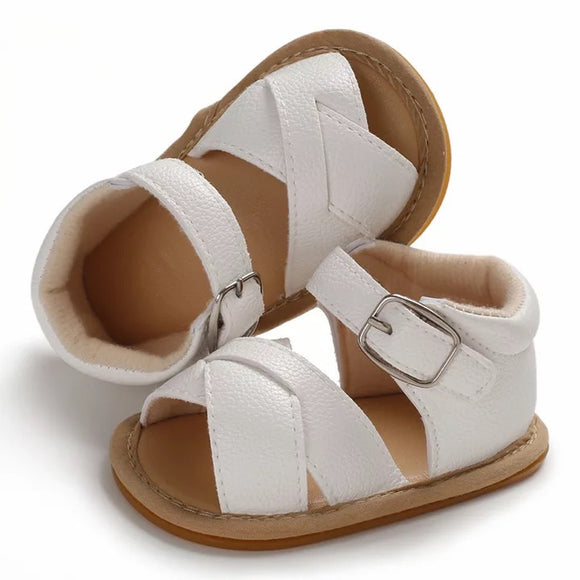 Cross strap sandal - white - nixonscloset