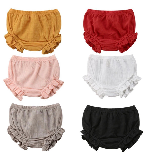 Linen Ruffle Bloomers - 6 colours - nixonscloset