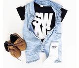 Acid wash Denim Look Romper - nixonscloset