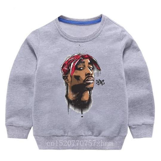 Tupac Sweater - Grey Bandana - nixonscloset