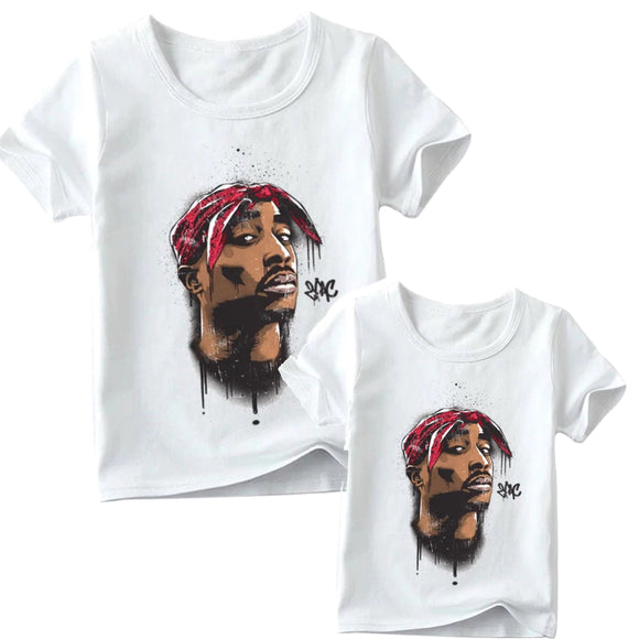 Matching family Tupac GRAFFITI tee- Adult and children - nixonscloset