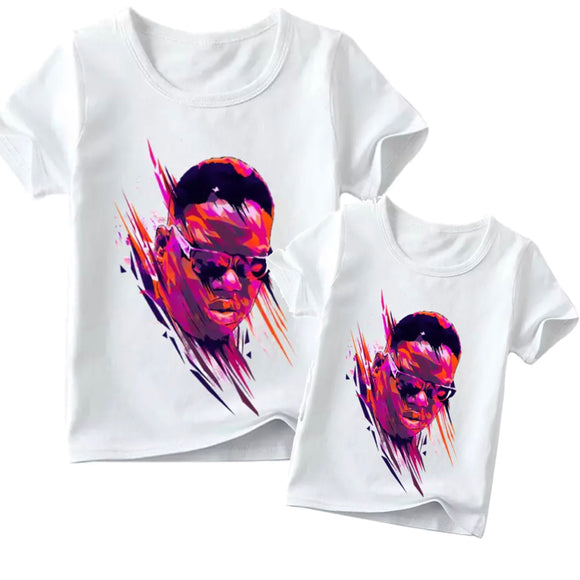 Matching Family Biggie Smalls Watercolour Tee- Adult & Child - nixonscloset