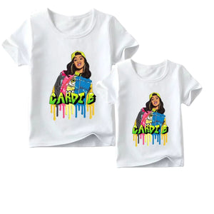 Matching Family Cardi B Graffiti Tee - Adult & Child - nixonscloset
