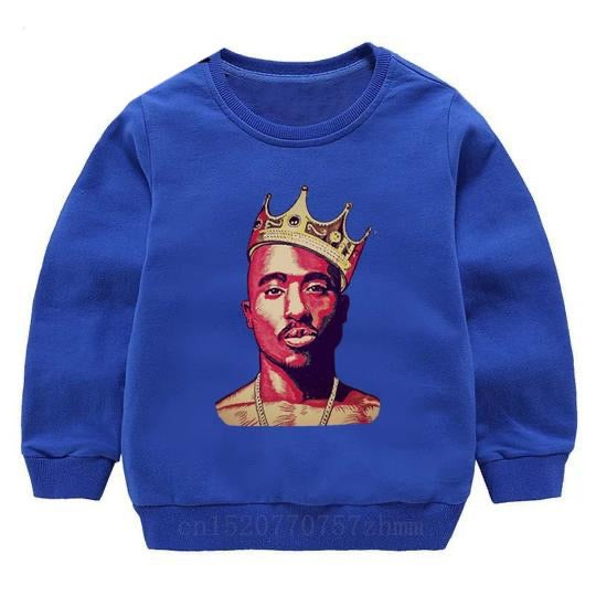 Tupac Sweater - Blue Crown - nixonscloset
