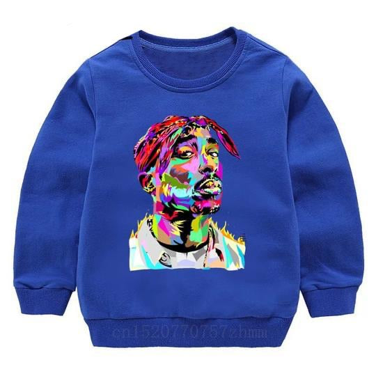 Tupac Sweater - Blue Watercolour