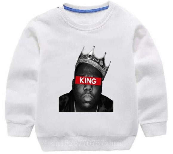 Biggie Crewneck- King white