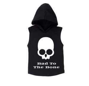 Bad to the bone sleeveless hoodie | black or white - Mlw by Design - nixonscloset