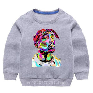 Tupac Sweater - Grey Watercolour - nixonscloset