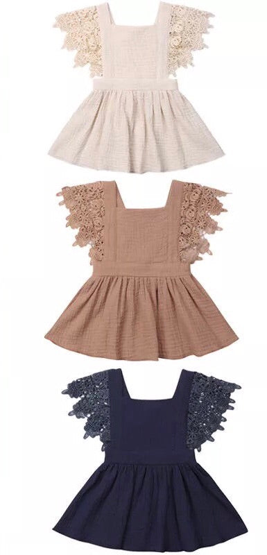 c8745307764 ... Linen and lace dress - Coffee - nixonscloset ...