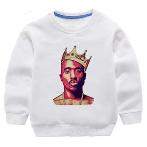 Tupac Sweater - White Crown - nixonscloset