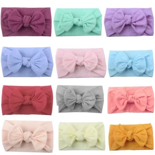 Oversized Extra Wide bow top knot - 12 colours - nixonscloset