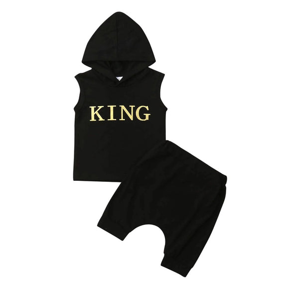 King Hoodie tank and harem short set - nixonscloset