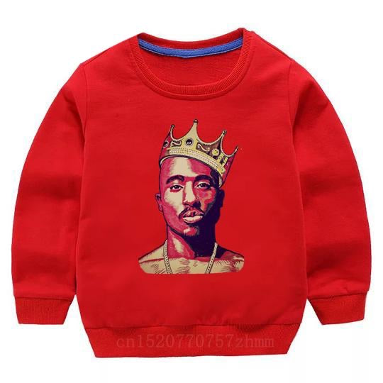 Tupac Sweater - Red Crown