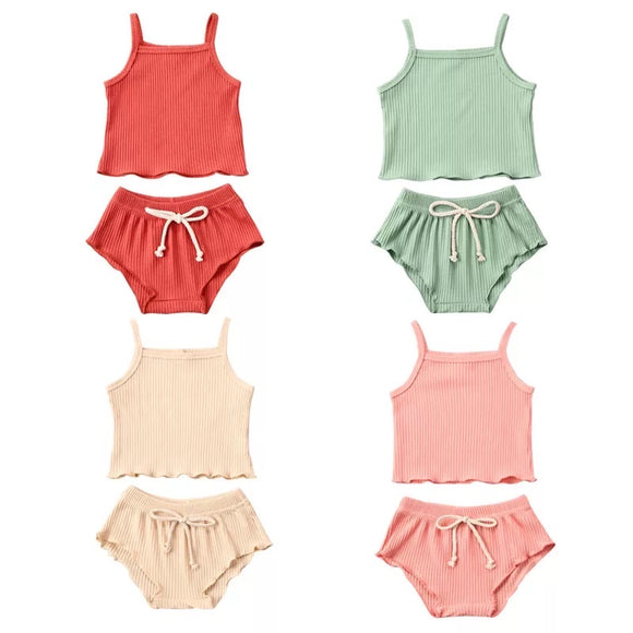Singlet Ribbed Set - 4 Colours - nixonscloset