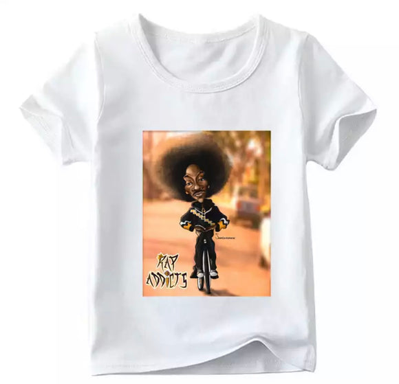 Matching family Snoop rap addict tee- Adult and children