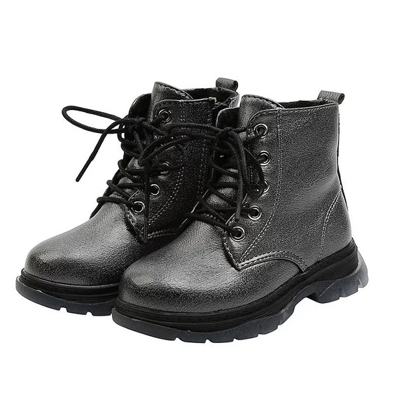Metallic kids boots - Black