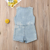 Blue Wash Denim Jumpsuit - nixonscloset