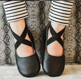 Genuine Leather Soft Sole Ballet Shoe - 10 Designs - nixonscloset