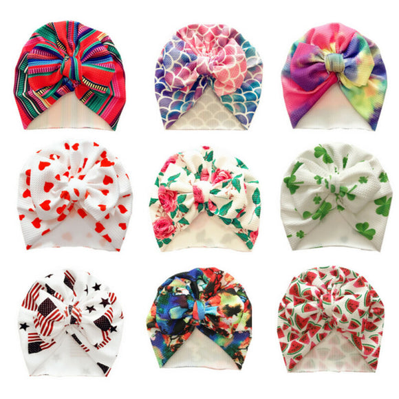 Printed Bow Turban - 9 Designs