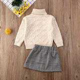 Knit and skirt set
