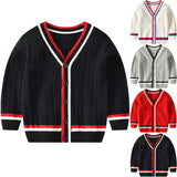 Knitted College Cardigan - 4 Colours - nixonscloset