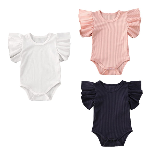 Ribbed Wing Romper - 3 Colours
