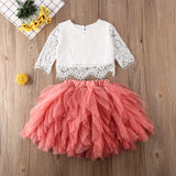 Lace & Tutu Set - Pink - nixonscloset