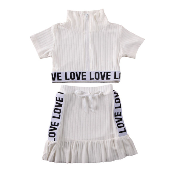 Love Ribbed Set - white - nixonscloset