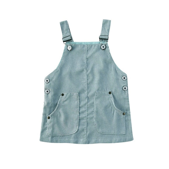 Corduroy Pinafore - Blue