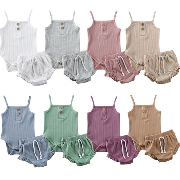 Ribbed Ruffle sets - 8 Colours - nixonscloset