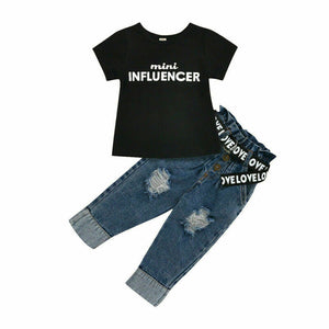 Mini Influencer jean set - nixonscloset