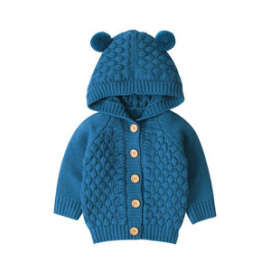 Baby Bear Knit Cardigan - 4 Colours