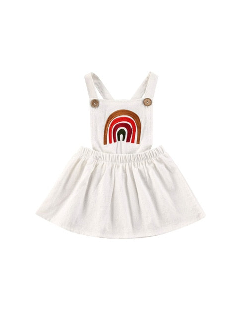 Rainbow dress - White
