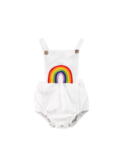 Rainbow romper - White