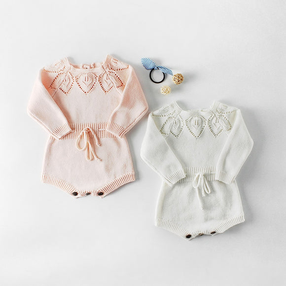 Cut out Knitted romper - Pink