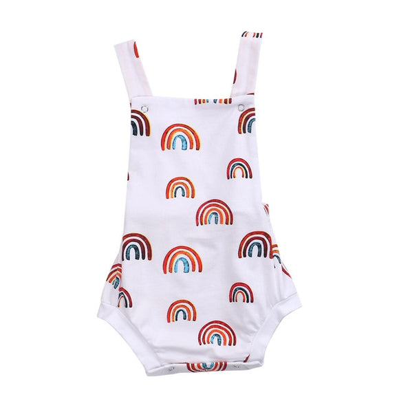 White Rainbow romper
