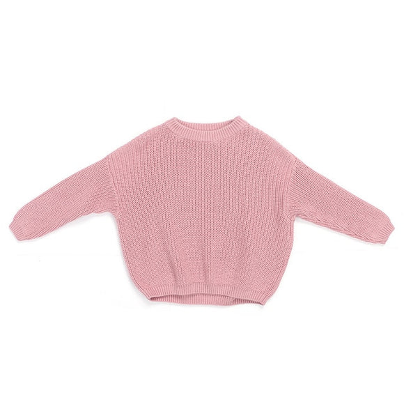 Chunky knit sweater - Bright pink