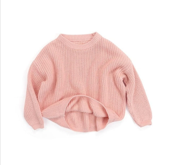 Chunky knit sweater- Pink