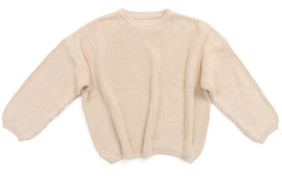 Chunky knit sweater - Ivory