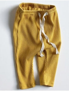 Ribbed Leggings - Mustard