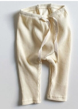 Ribbed Leggings - Ivory