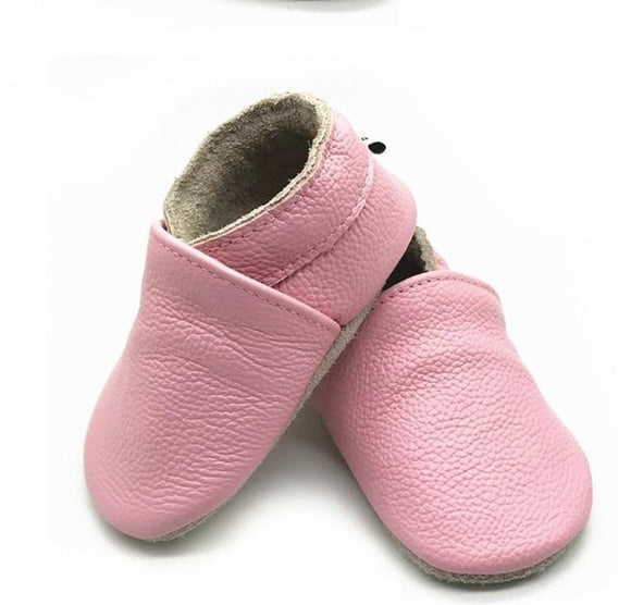 Genuine leather soft sole pre walker - Pink