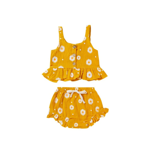 Daisy linen set - Yellow