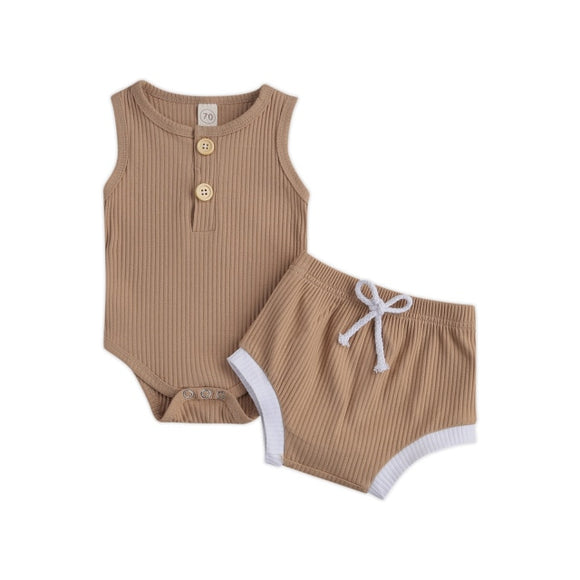Piper Ribbed set unisex - Coffee