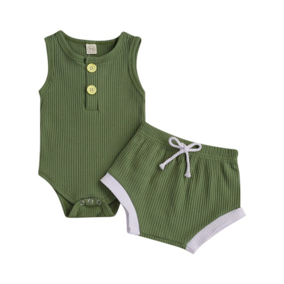 Piper Ribbed set unisex - Forrest green