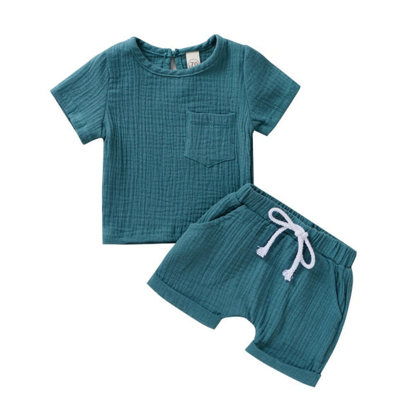 Linen summer set - Blue