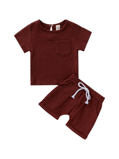 Linen summer set - Chocolate