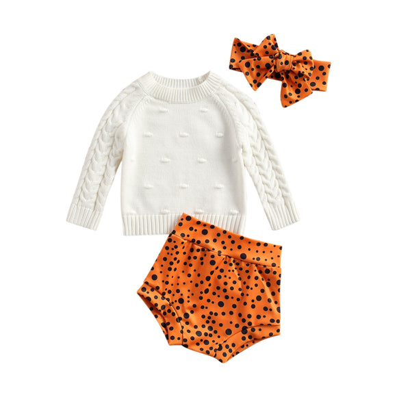 Knit Jumper & Cheetah bloomers set