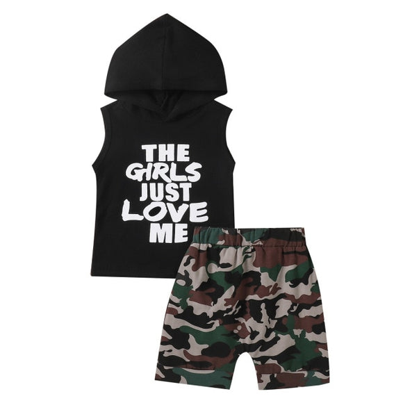 The girls love me set - Black