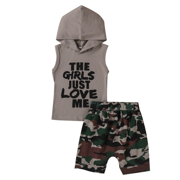 The girls love me set - Grey
